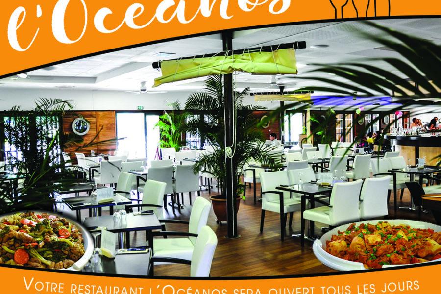 Restaurant l'Océanos ouvert tous les jours pour les vacances de janvier